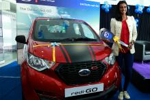 Datsun Honours P.V. Sindhu With the redi-GO Sport for Rio Performance