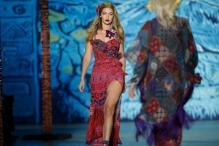 Supermodel Gigi Hadid Trips on Runway at Paris Fashion Week