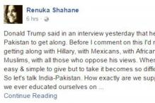 Renuka Shahane Wrote A FB Post On India-Pakistan Relations And It's Bang On
