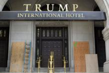 Trump's New Hotel in Washington Vandalized With Spray-Painted Graffiti