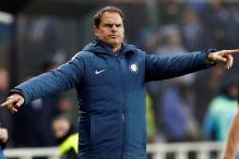 Italian Football Club Inter Milan Sack Manager Frank De Boer