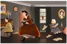 Google Remembers Louisa May Alcott With Little Women Doodle