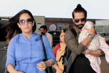 Shahid Kapoor Protectively Carries Daughter Misha As He Steps Out With Wife Mira Rajput