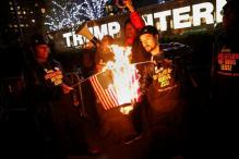 Trump Flag-Burning Tweet Leads Activists to Burn Some Flags in New York