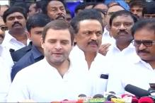 Rahul Calls on Karunanidhi, Says DMK Chief is Doing Well