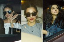 Kareena Kapoor's Friends Malaika, Amrita and Rhea Spotted Outside Her Residence