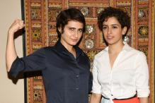 Aamir Khan's Dangal Daughters Fatima Sana Shaikh-Sanya Malhotra Flaunt Muscle Power, See Photos