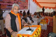 Union Minister Manoj Sinha Sustains Injuries in Road Mishap
