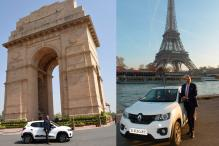 Renault Kwid Completes 18,996km Drive From New Delhi to Paris