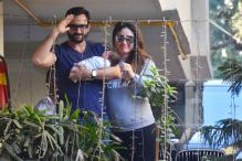 Soha Ali Khan Shares Picture Of Saif With Baby Taimur's Sketch