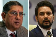 N Srinivasan, Anurag Thakur Join Hands at BCCI Informal Meet