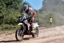 CS Santosh Gains 10 Places, Keeps Hero Motosports Dakar 2017 Campaign on Track