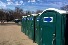 Inauguration Irregularity: Porta-potties Bearing 'Don' Taped Over