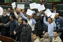 Opposition Members Stage Walk Out From J&K Assembly
