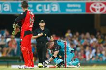 Brendon McCullum Foxed by a Chewing Gum