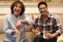 Sachin Tendulkar and Zakir Hussain's 'Tabla' Jugalbandi