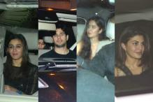 Sidharth Celebrates His Birthday With Alia, Katrina At Karan's Residence