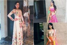 Sridevi, Daughters Jhanvi And Khushi Kapoor Slay In Manish Malhotra Ensembles