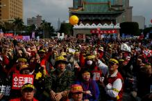 Protests Outside Taiwan Presidential Office Over Pension Reform Plan
