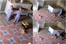 2-Year-Old Saves Twin Brother By Pushing Fallen Dresser Off Him