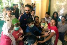Yuvraj Singh Spends Time With Cancer-Afflicted Children