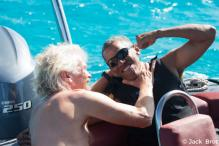Obamas Join Richard Branson for Private Island Getaway