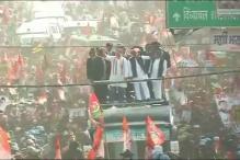 Rahul Gandhi, Akhilesh Yadav Conduct Joint Roadshow in Allahabad