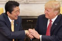 Donald Trump Shakes Shinzo Abe's Hand For 19 Seconds