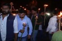 NSUI Takes Out Mashaal March Against ABVP