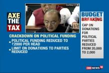 Cap On Donations For Political Parties Reduced From 20,000 To 2,000