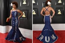 When a Pro-Donald Trump Fashion Statement Took Over The Grammy Awards Red Carpet
