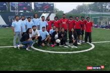 KL Rahul, Rohit Sharma Dazzle On the Football Field