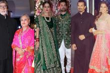 Amitabh-Jaya, Rekha, Karan-Bipasha Attend Neil-Rukmini's Reception