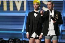 Twenty One Pilots Receive Grammy Wearing Underwear