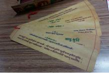 Policeman Gives English a Miss, Gets Wedding Cards Printed in Sanskrit