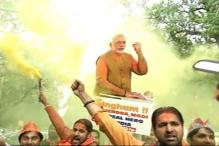 Watch: 'Har Har Modi' Chants Dominate In Lucknow's Air