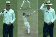 Umpire Gaffaney Raises his Finger but Not to Give Out. What's the Story