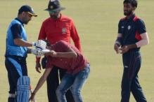 Mahendra Singh Dhoni Signs Autograph While Batting