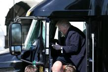 Donald Trump Takes a Break From White House to Drive a Truck