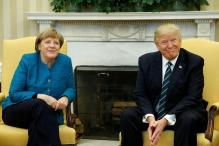 Donald Trump, Angela Merkel Hold First Face-to-Face Meeting at White House
