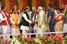 PM Narendra Modi Meets Mulayam, Akhilesh Yadav at Oath Taking