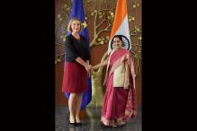 EU Foreign Policy Chief Holds Talks With Sushma Swaraj
