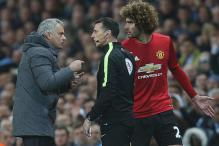 Jose Mourinho Angry at Sergio Aguero over Marouane Fellaini Red Card