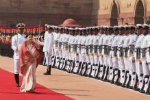 Ceremonial Reception of President of Nepal, Bidhya Devi Bhandari at Rashtrapati Bhavan