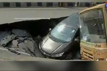 10 Injured as Road Caves in at Chennai's Anna Salai
