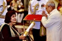 Deepa Malik Chooses a Graceful Sabyasachi Ensemble To Receive The Padma Shri Award
