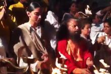 Deepika Padukone Performs Ganga Aarti In Rishikesh, See Pics