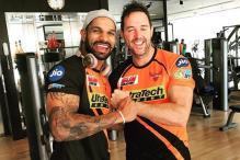 IPL 2017: Shikhar Dhawan Joins Sunrisers Teammates in the Gym