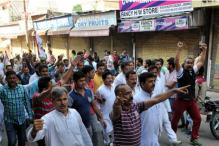 JKNPP Protests for Imposition of Governor's Rule in J&K