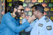 These Photos Of Ranveer Singh Bonding With a Guard Will Make Your Day
